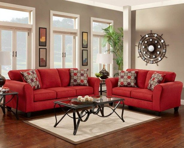 how to decorate with a red couch - Google Search | new house | Red