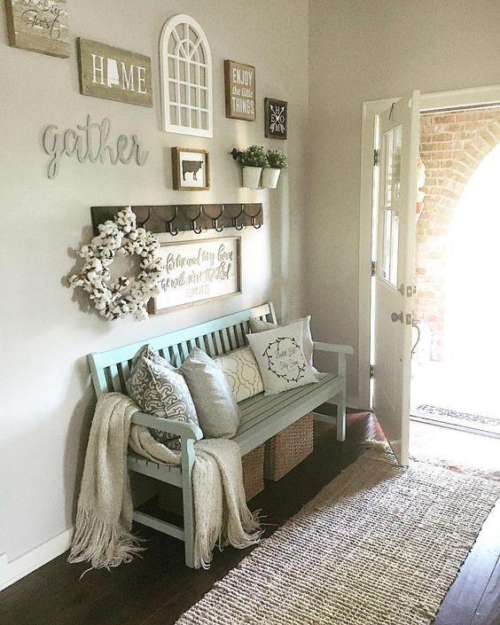 modern country decor, modern farmhouse decor, fall decor, entry way