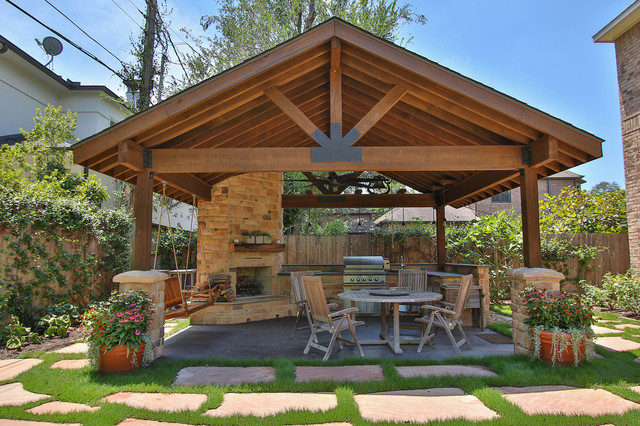 Braeswood Place Outdoor Covered Patio, Sunroom and Balcony - Rustic