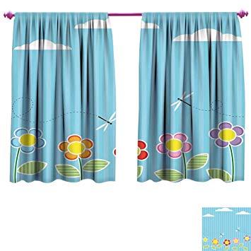 Amazon.com: Dragonfly Waterproof Window Curtain Kids Playroom