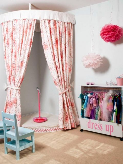 How to cool curtains for   children's playroom online
