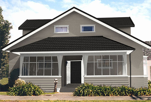 exterior house colour schemes created by Resene EzyPaint virtual