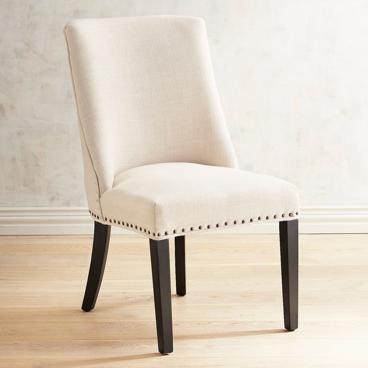 Corinne Linen Dining Chair with Black Espresso Wood | Pier 1