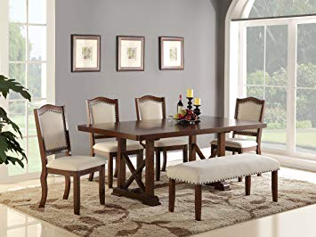 Amazon.com - Dining Room Formal Look Classic 6pc Set Dark Cherry