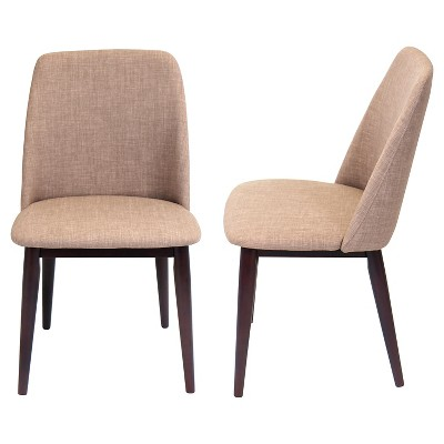 Tintori Mid Century Modern Dining Chairs Wood/Espresso (Set Of 2
