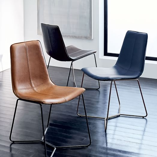 Slope Leather Dining Chair | west elm
