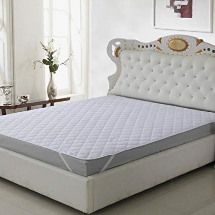 Buy CarryWishiya Quilted Mattress Protector Double Bed - White