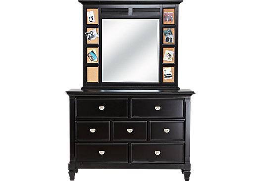 Belmar Black Dresser & Mirror Set