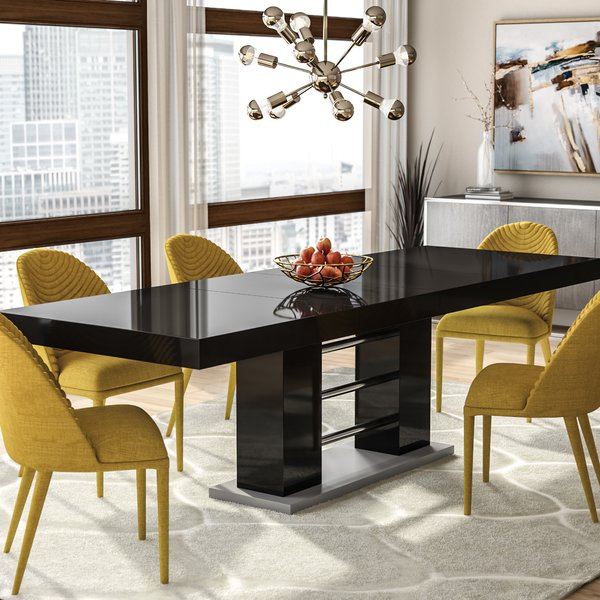 Wade Logan Pocomoke Extendable Dining Table & Reviews | Wayfair