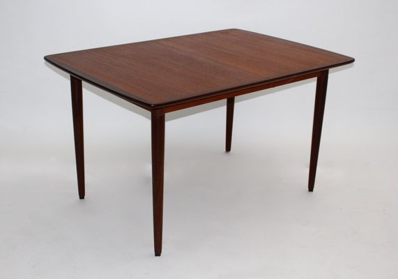 Danish Teak, Rosewood, and Ash Rectangular Extending Dining Table