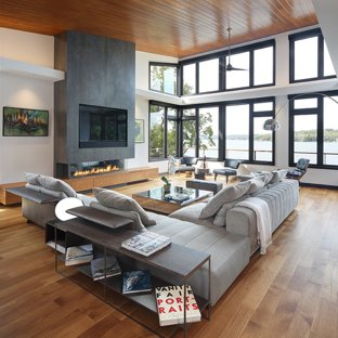 75 Most Popular Contemporary Family Room Design Ideas for 2019