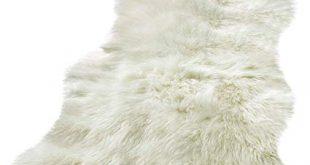 Amazon.com: BUZIO Luxurious Soft Faux Sheepskin Rug Super Fluffy