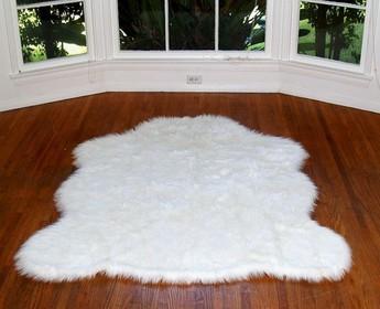 Faux Sheep skin Rug White | Fake Sheep Skin Rug White