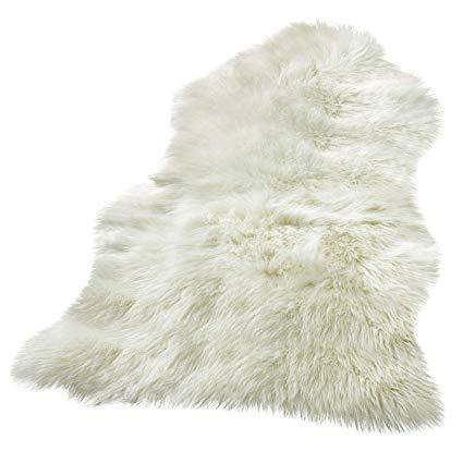 The Beautiful Faux Sheepskin   Rug