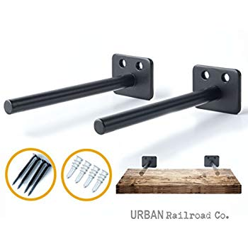 Amazon.com: Solid Steel Floating Shelf Brackets - 6