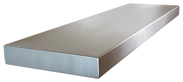 Stainless Steel Floating Shelves- Seamless - Modern - Display And