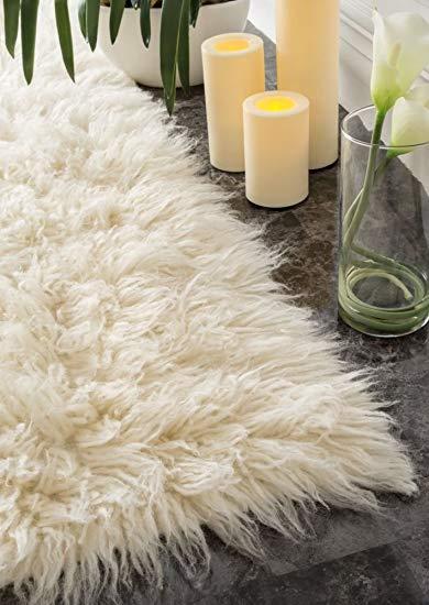Amazon.com: Hand Woven Flokati Shag New Zealand Wool Natural Shag