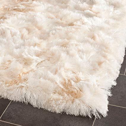 Amazon.com: Shag & Flokati Rug - Paris Shag Polyester Pile -Ivory