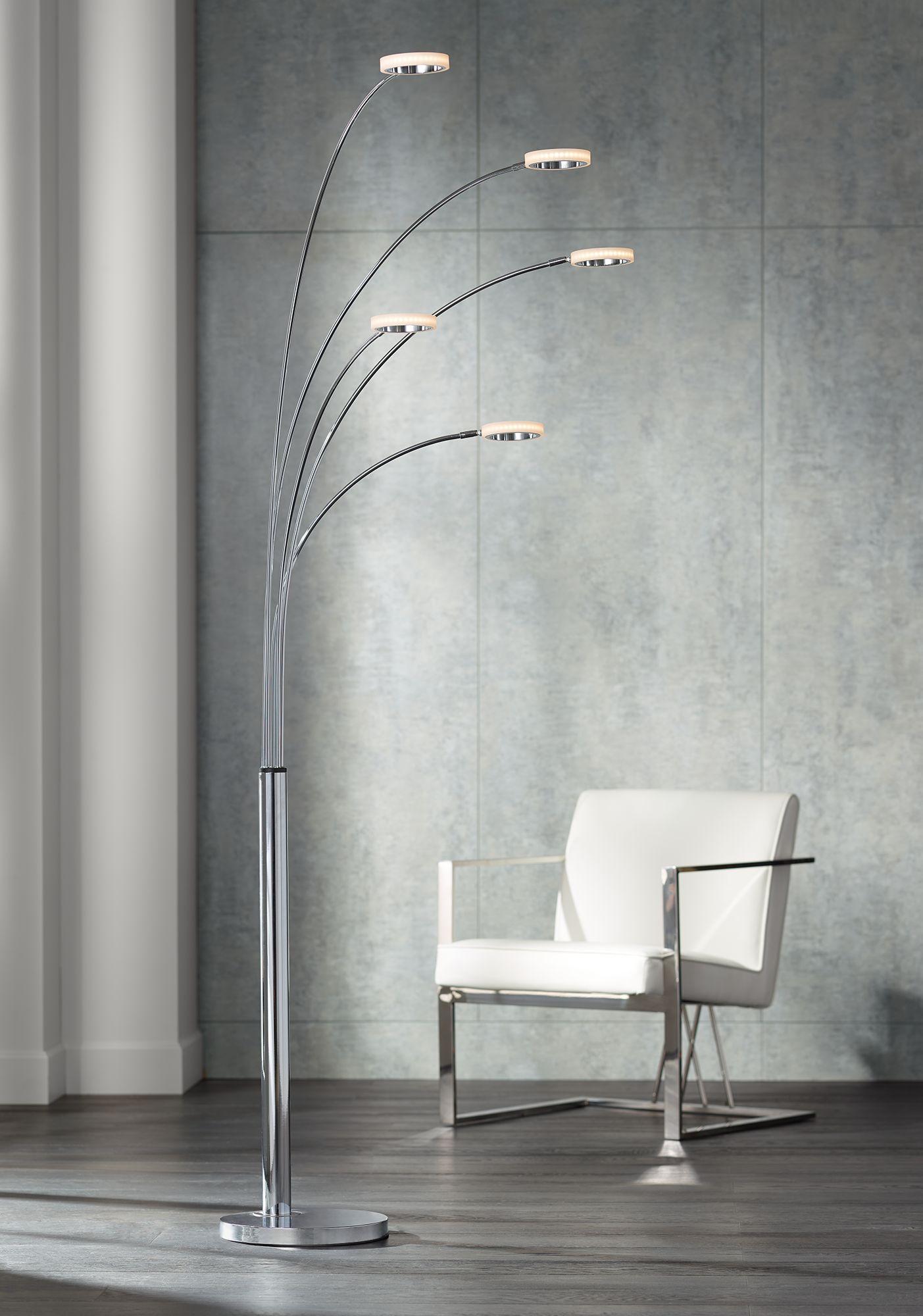Brushed Nickel, Mid-Century, Floor Lamps | Lamps Plus