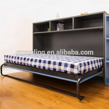 Cheap Price Folding Bed Horizontal Wall Mounted Bed Single Hidden