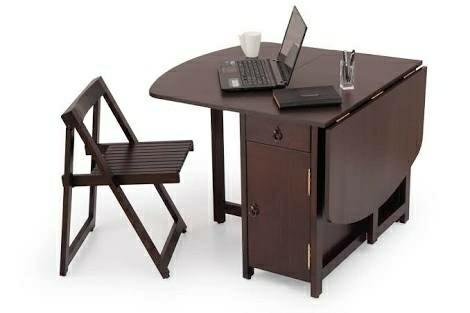 Brown Wornet Sana Manufacturer Plywood Dining Table Folding