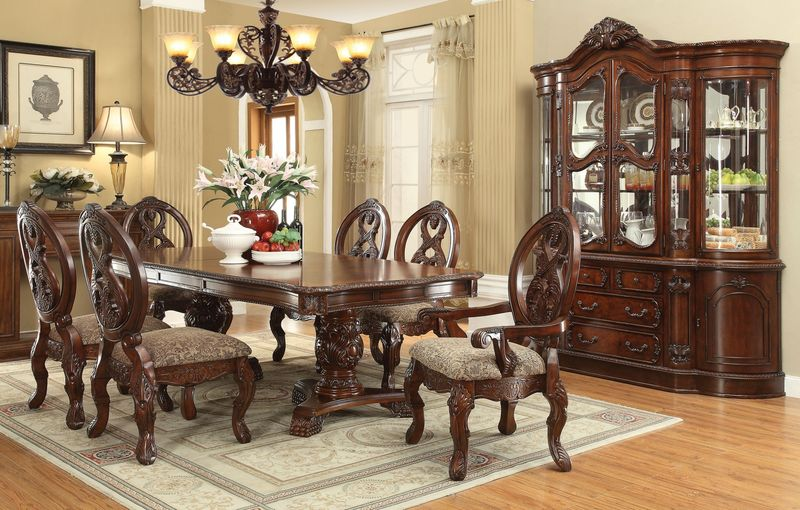 Acme | 60800 Rovledo Formal Dining Room Set with Pedestal Table