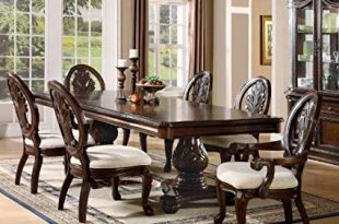 Amazon.com - 7pc Formal Dining Table & Chairs Set with Claw Design