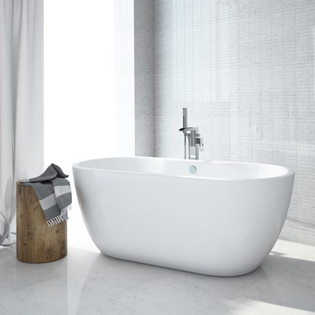 Luxury Modern Double Ended Curved Freestanding Bath at Victorian