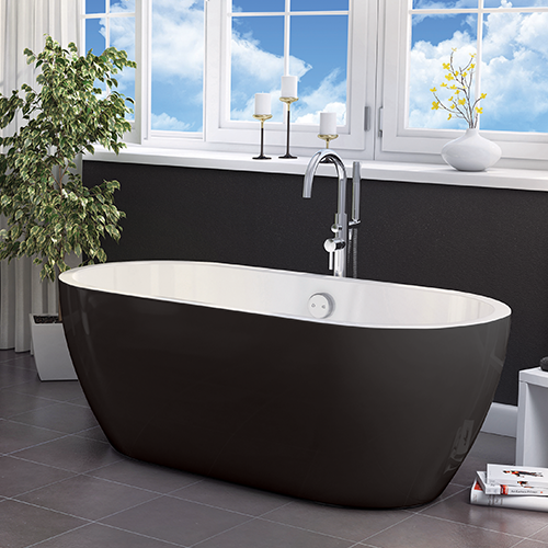 Voda Design - Manhattan Modern freestanding Bath 1655mm (Black