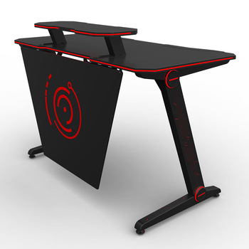 Ergonomic Black Led Pc Computer Custom Gaming Desk - Buy Pc