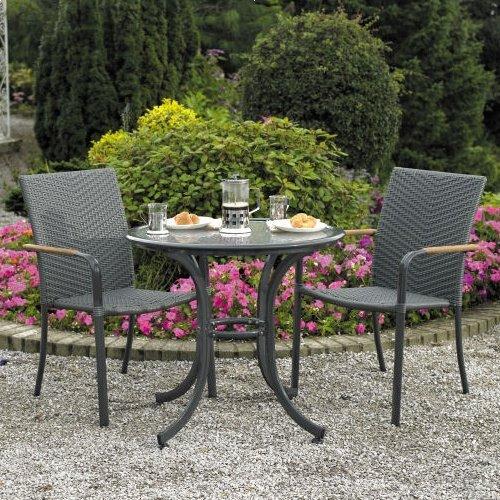 Amazon.com : Home & Garden Direct Naples Cafe Bistro Set for 2