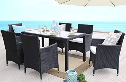 Amazon.com: Baner Garden 7 Pieces Outdoor Furniture Complete Patio