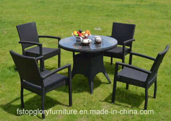 China New Design Rattan Tea Table Chair Set Outdoor Garden Furniture