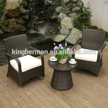 Poly Rattan Garden Furniture Cane Dining Table Chairs Set Coffee