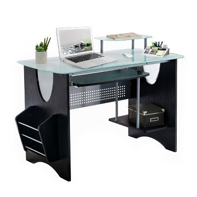 Tempered Glass Computer Desk - Techni Mobili : Target