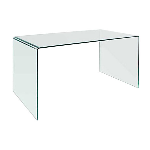 Denmark Modern 59 Inch Glass Desk + Dining Table | Eurway