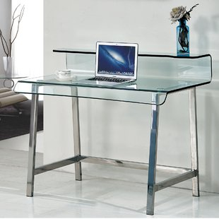 Curved Glass Desk | Wayfair.co.uk