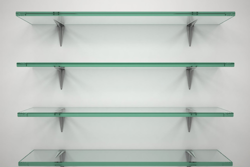 Having versatile Elegant Glass   Shelves in Your Home