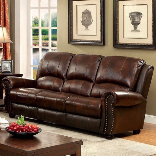 Red Barrel Studio Gantz Top Grain Leather Sofa - Walmart.com