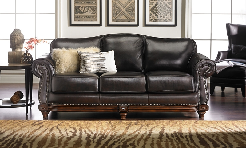 Hermitage Top-Grain Leather & Down Sofa | Haynes Furniture