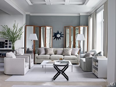 Inspiring Gray Living Room Ideas - Architectural Digest