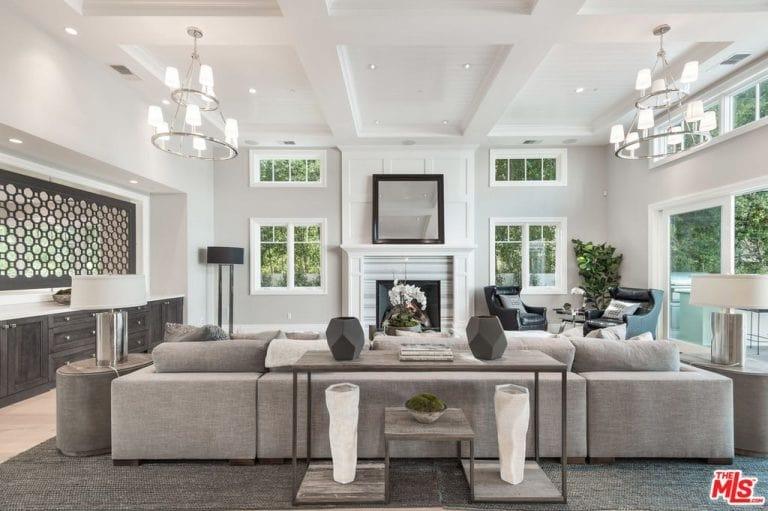 46 Cool Gray Living Room Ideas (Photos)