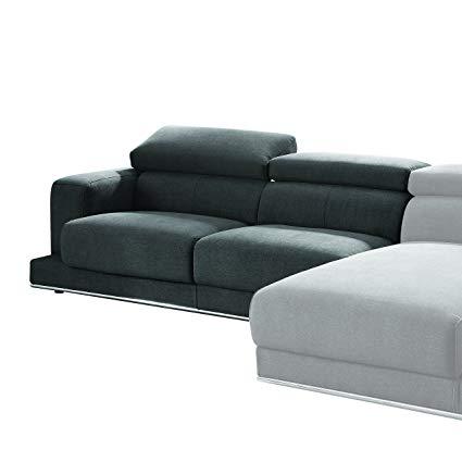 Amazon.com: ACME Furniture Alwin Sectional Sofa, Dark Gray Fabric