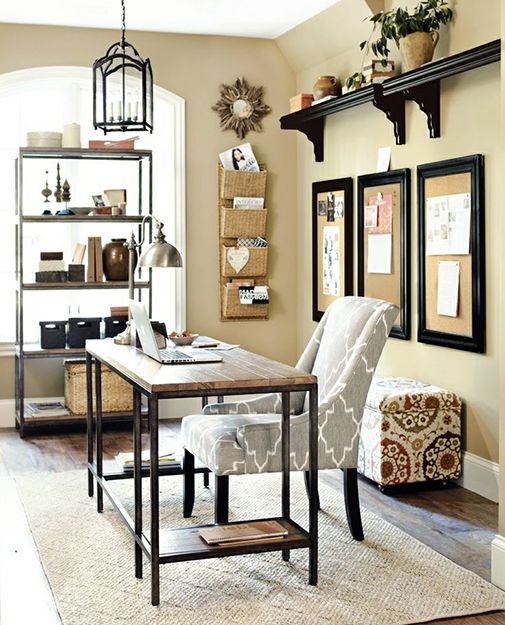 15 Great Home Office Ideas | Like the style of this room. I already