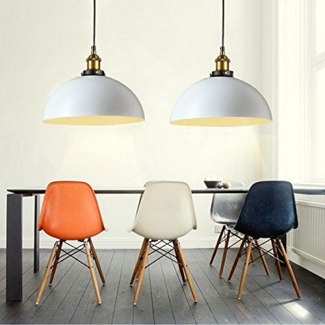 WinSoon 1PC Modern Design Half Globe Vintage Hanging Lamps Shade