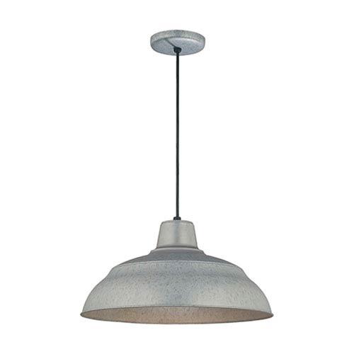 Millennium Lighting R Series Galvanized 17 Inch Warehouse Cord Hung