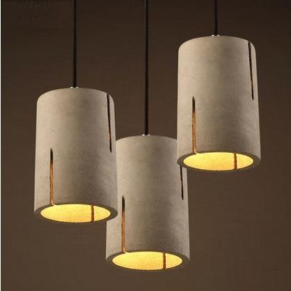 Creative Cement Droplight Loft Vintage Pendant Light Fixtures LED