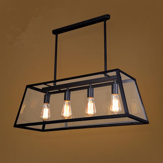 Industrial led pendant lights Vintage Clear Glass Pendant Light