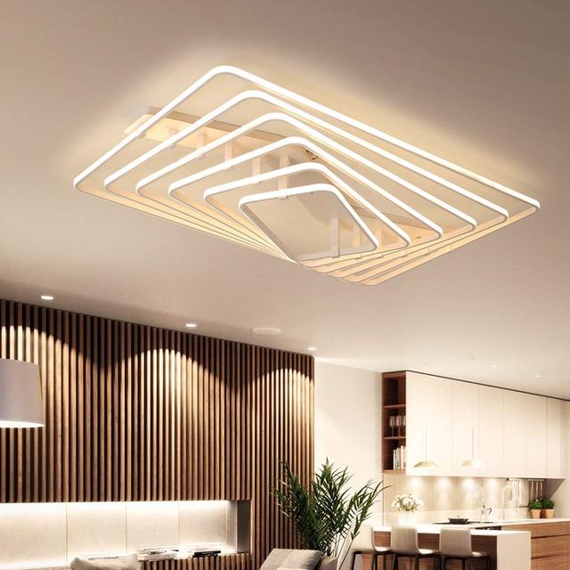 White Square LED light modern Led ceiling lights living room bedroom