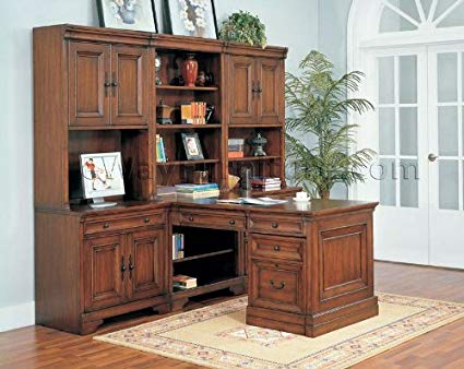 Amazon.com: Warm Cherry Executive Modular Home Office Furniture Set